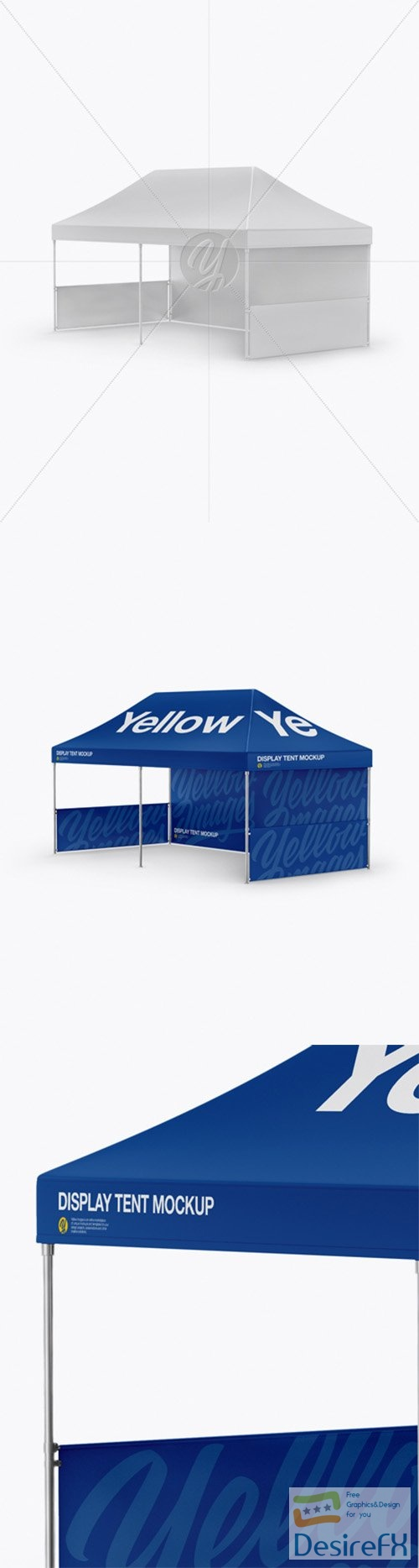 Display Tent Mockup - Half Side View 29857 TIF