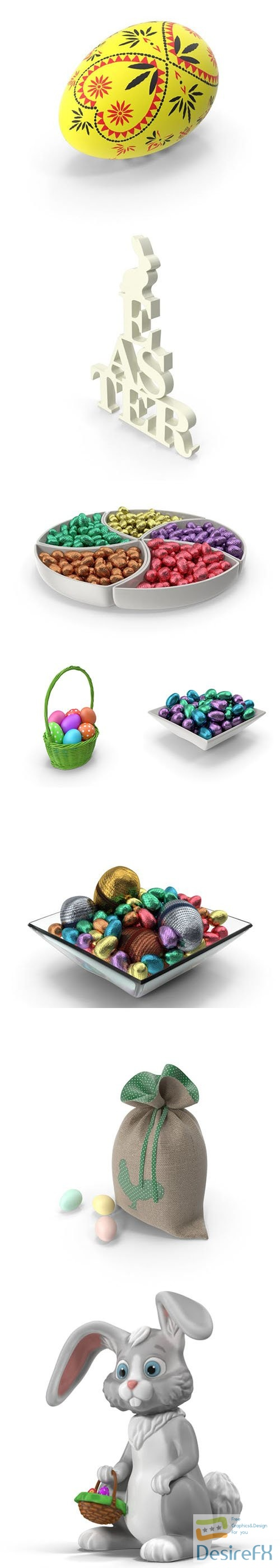 Easter 3d PNG Collection vol 2