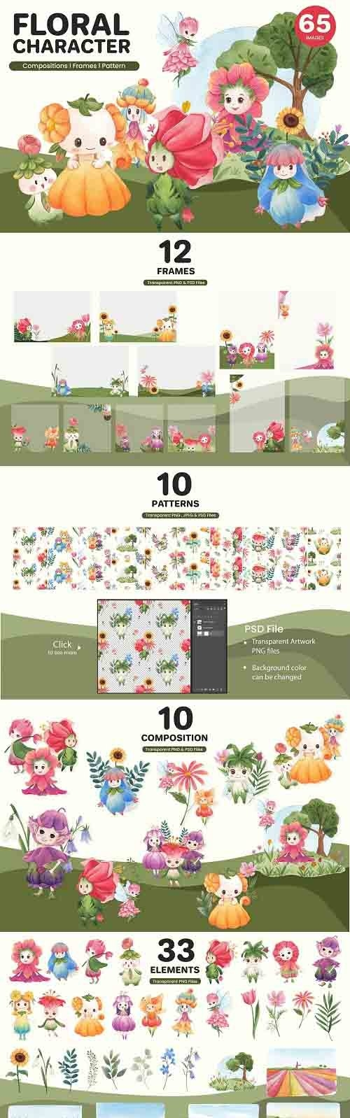 Floral Fairly tail Character - 6021463