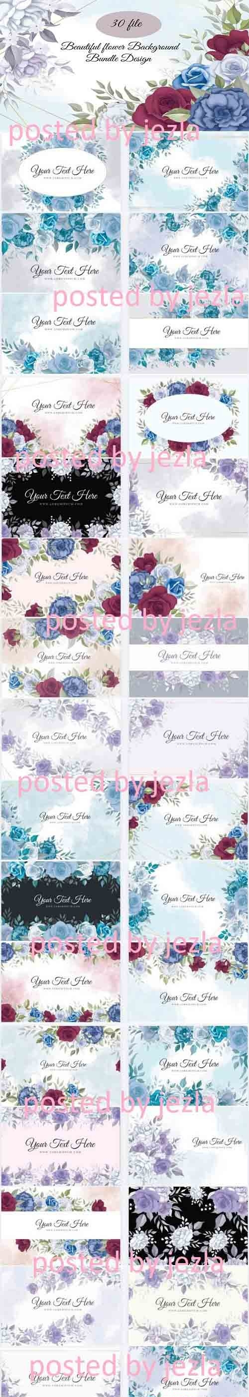 Flowers Background Bundle - 31 Premium Graphics