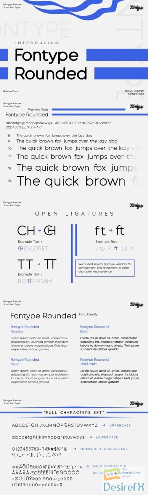 Fontype Rounded Sans Serif Font Family 4-Weights