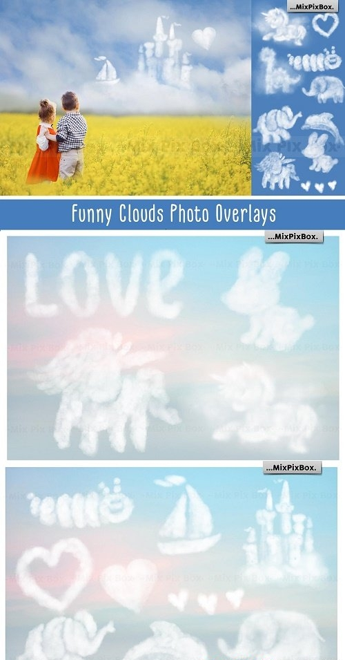 Funny Clouds Photo Overlays - 6043289