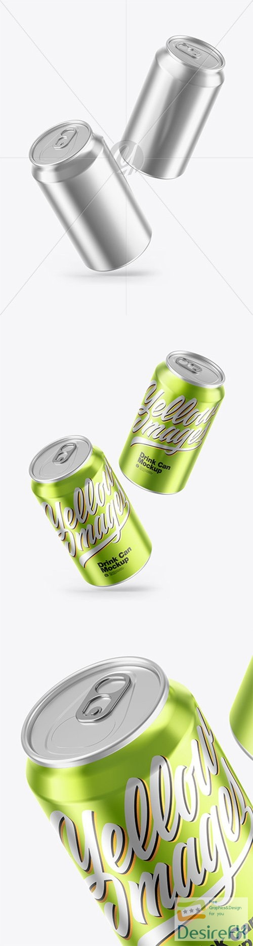 Glossy Metallic Drink Cans Mockup 66564 TIF