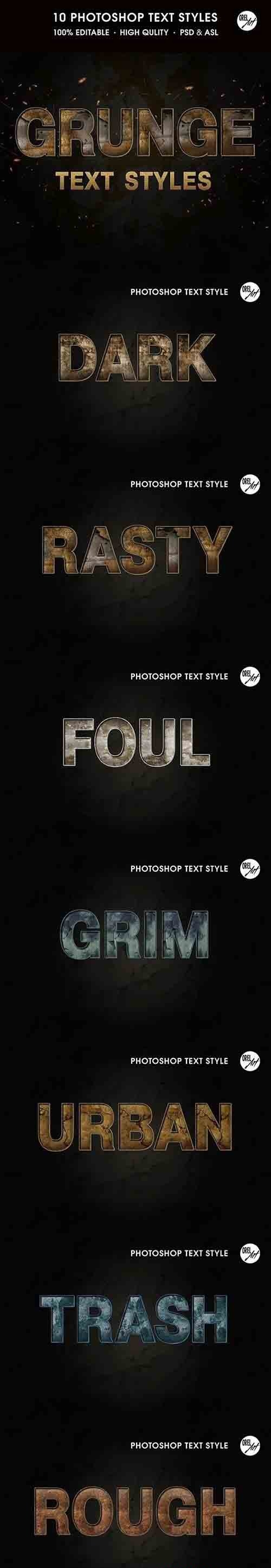 GraphicRiver - Grunge Text Styles 30386862