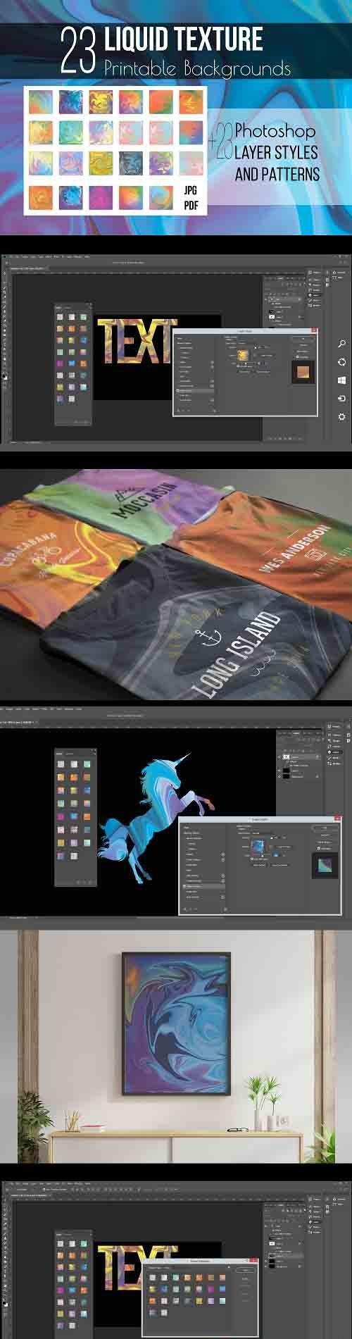 Liquid texture & Photoshop Layer Styles - 1268816