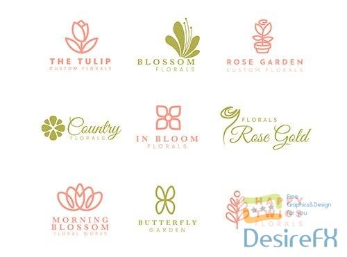 Logo collection wedding florist