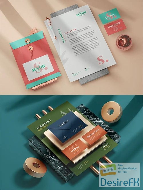 Modern Stationery Mock-Up Templates