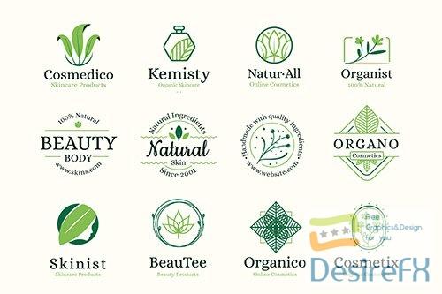 Nature cosmetics logo vector collection