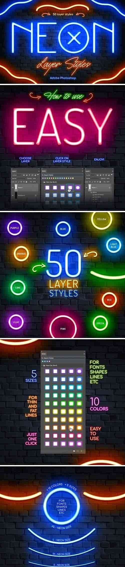 Neon Photoshop Layer Styles