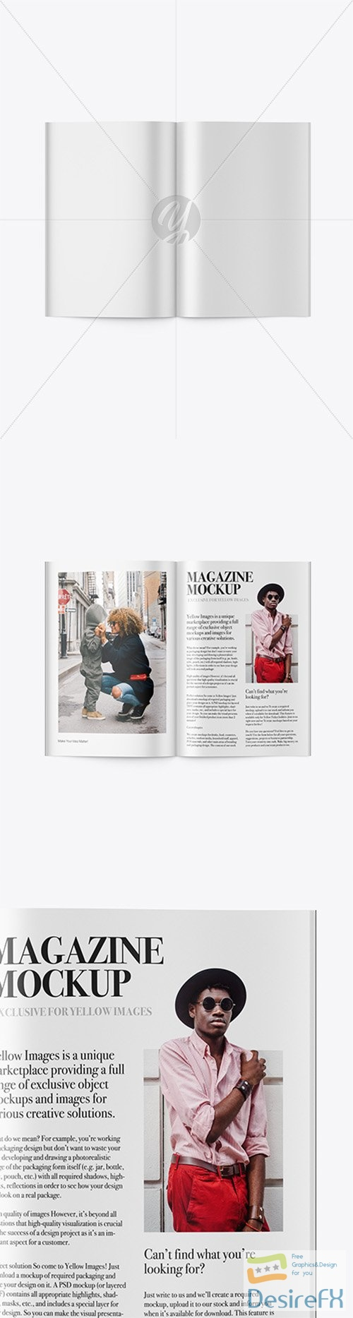 Opened Magazine Mockup - Top View 23446 TIF