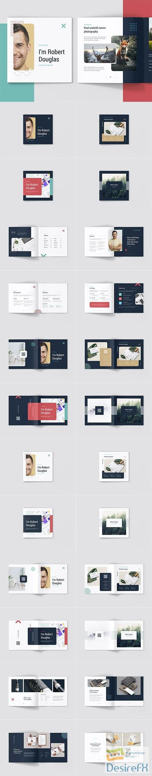 Portfolio Resume Light and Dark Square