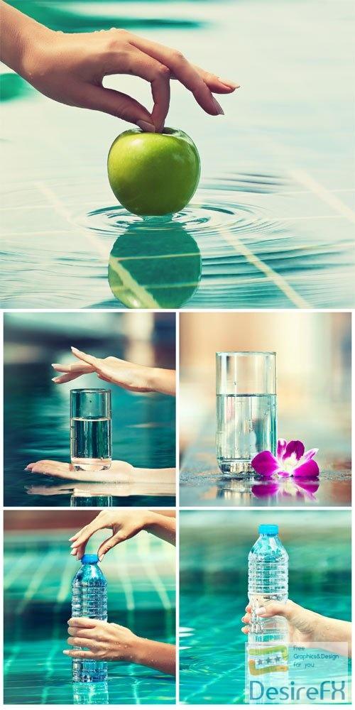 Pure water stock photo