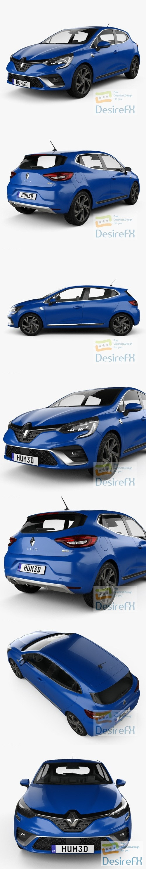 Renault Clio RS-Line hatchback 2019 3D Model