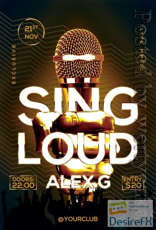 Sing Loud Flyer PSD Template