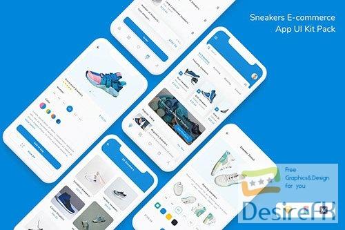 Sneakers E-commerce App UI Kit Pack