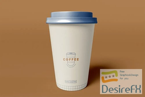 Take Away Coffee Cup Mockup XY2ZB6C