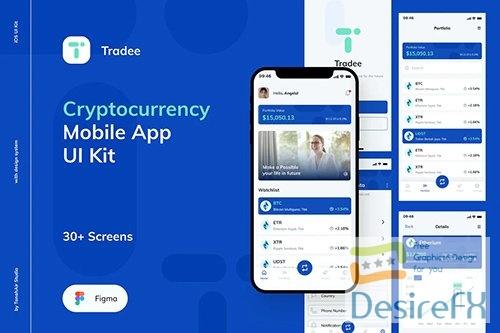 Tradee - Cryptocurrency Mobile App UI Kit