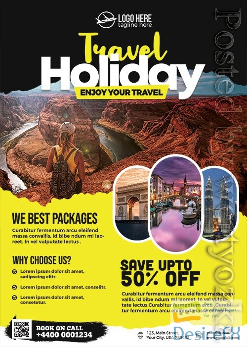 Travel Agency Promotion Flyer PSD