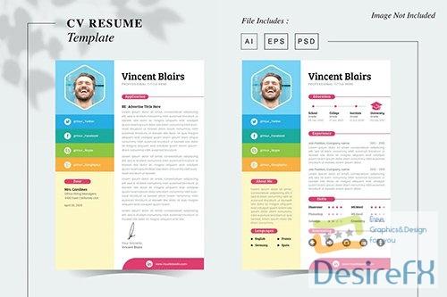 Vincent Blairs - CV Resume Template