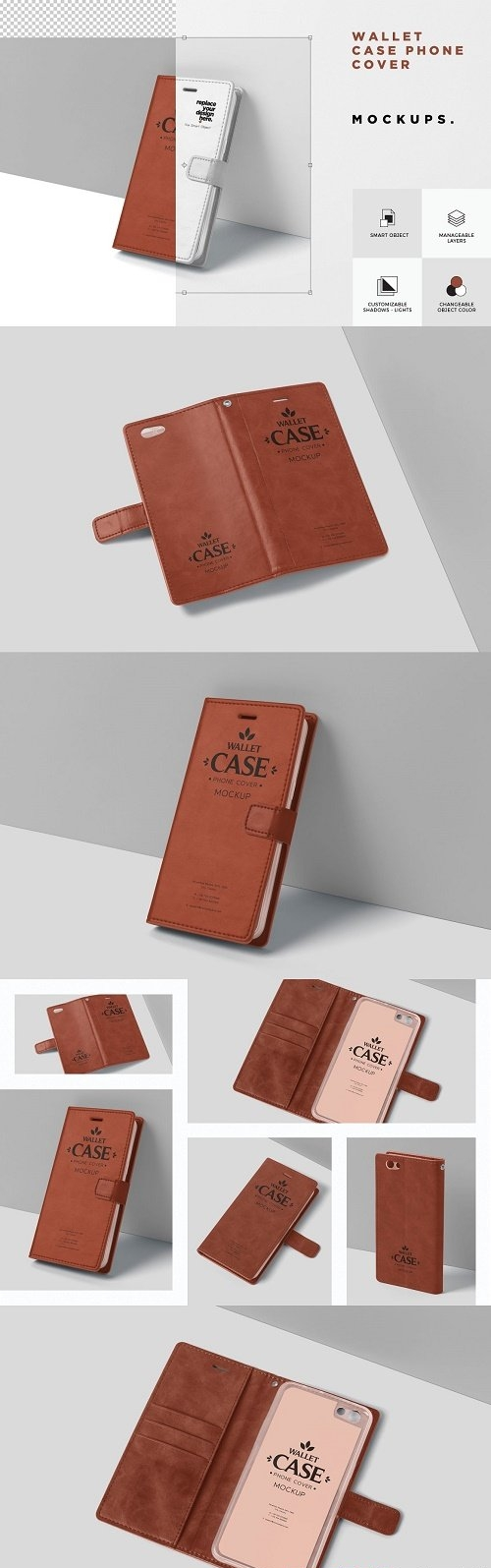 Wallet Case Phone Cover Mockup - 6072990