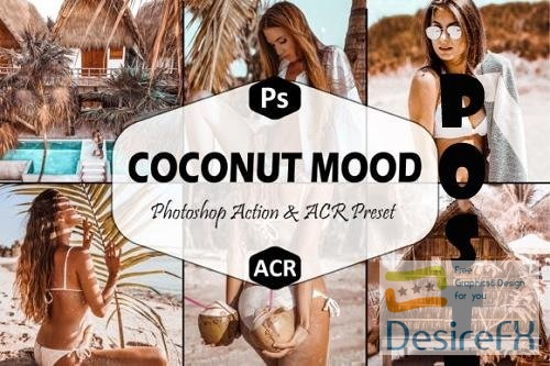 10 Coconut Mood Photoshop Actions And ACR Presets