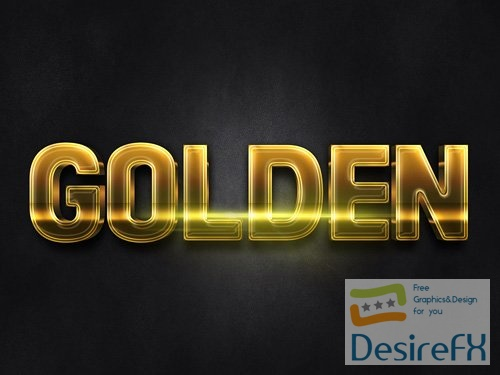 3D Gold Text Effect PSD Design Template vol 5