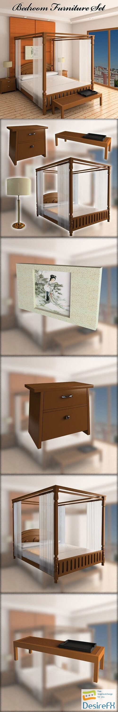 Bedroom Furniture 2 3D Model