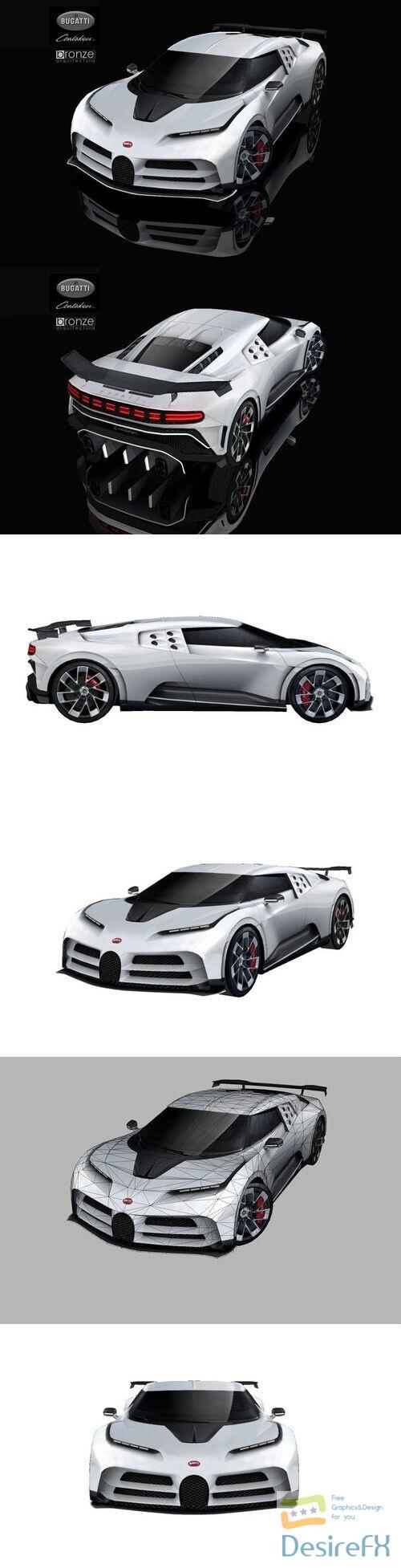 Bugatti Centodieci 2020 Low-poly 3D Model