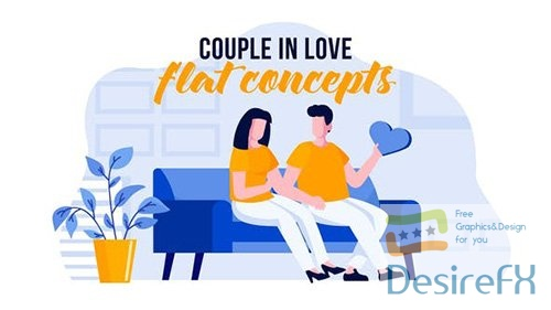 Couple in love - Flat Concept 31441046