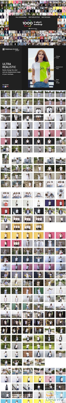CreativeMarket - 1000 T-Shirt Mock-Up 5813588