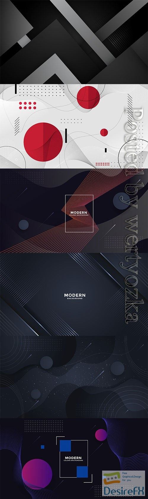 Dark 3d geometric vector background template design