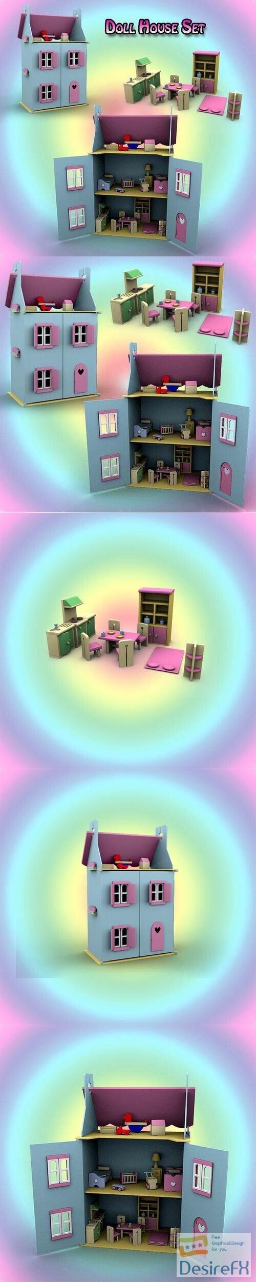 Doll House Set 01 3D Model