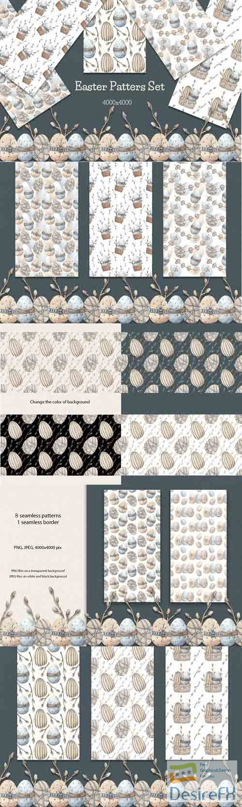 Easter Patterns Set - 1268011