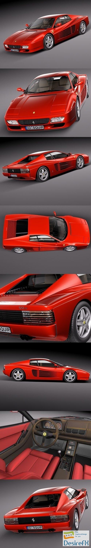 Ferrari 512TR 1991-1996 3D Model