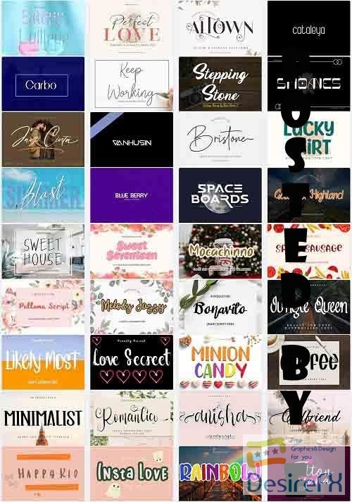 Mix Font Bundle 44 - 36 Premium Fonts