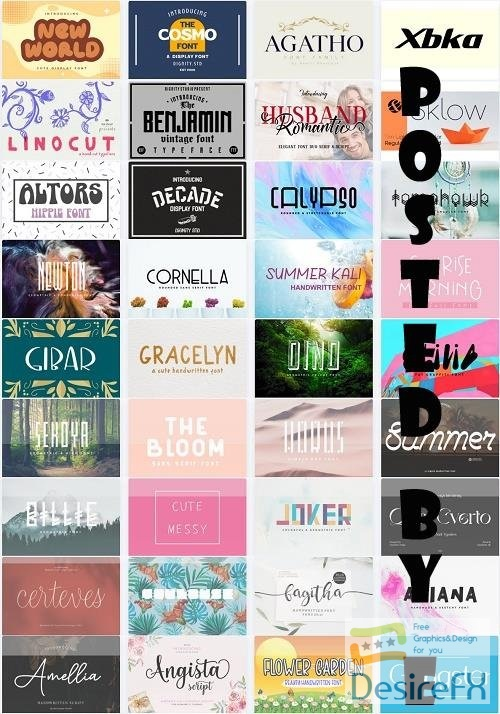 Mix Font Bundle 46 - 36 Premium Fonts