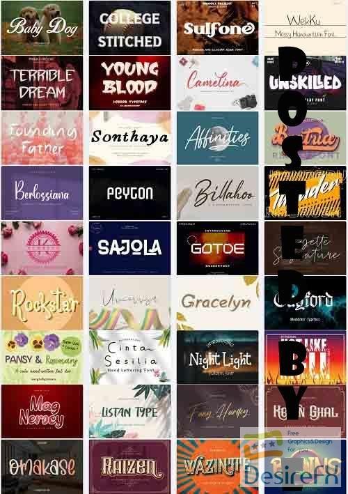 Mix Font Bundle 50 - 36 Premium Fonts