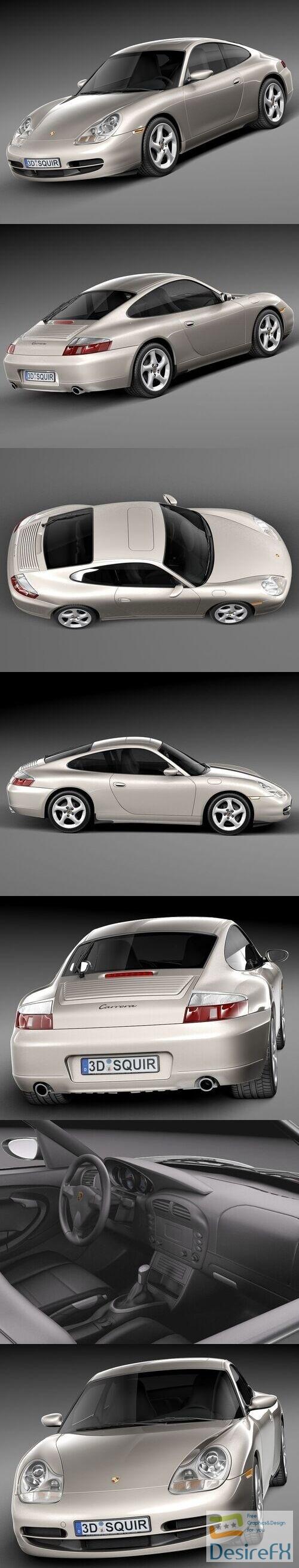 Porsche 911 996 Carrera 1997-2001 3D Model