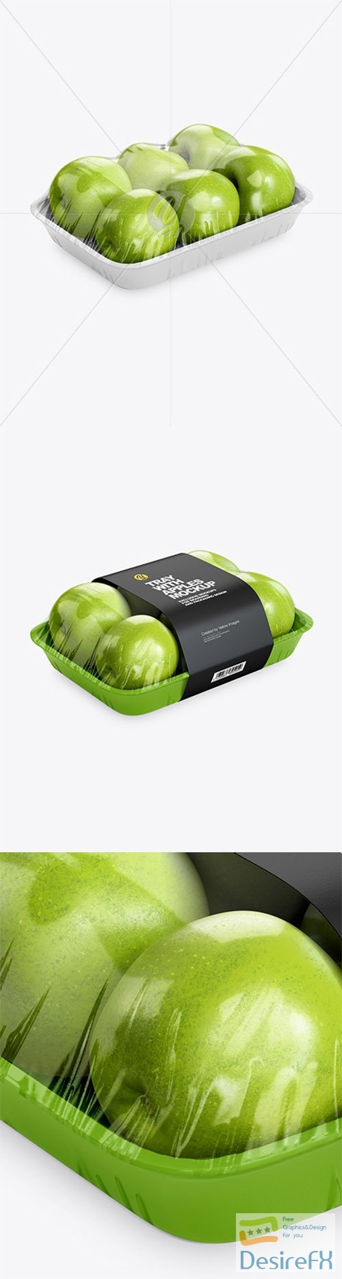 Tray with Green Apples Mockup 79257 TIF