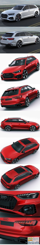Audi RS4 Avant 2020 3D Model
