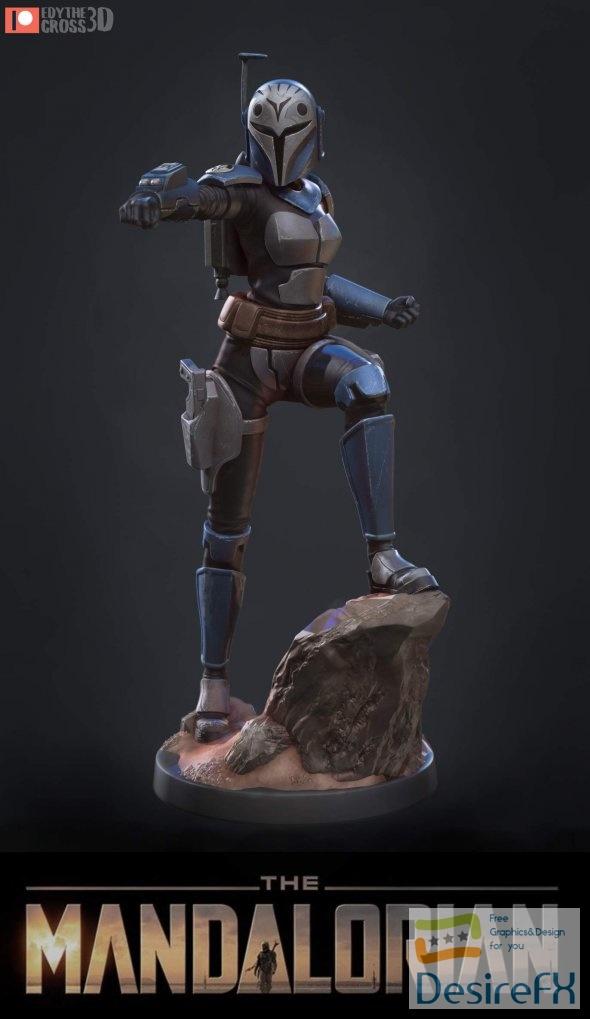 Bo Katan Star Wars 3D Print