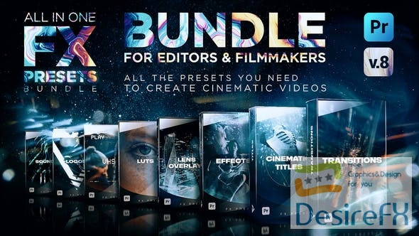 Videohive Montage Presets for Premiere Pro | Transitions, Titles, Effects, VHS, LUTs & More V8 24028073