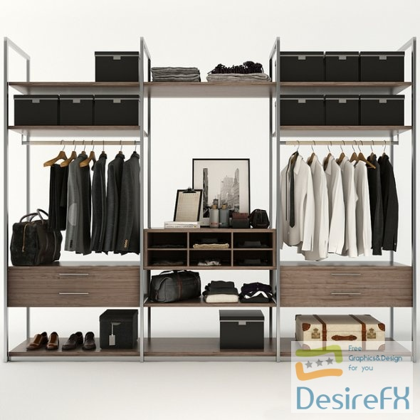 Filling the wardrobe