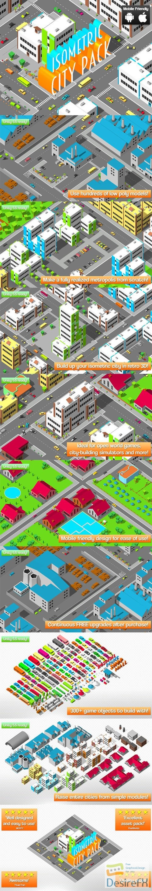 Isometric City Pack 1.0 Unity Asset
