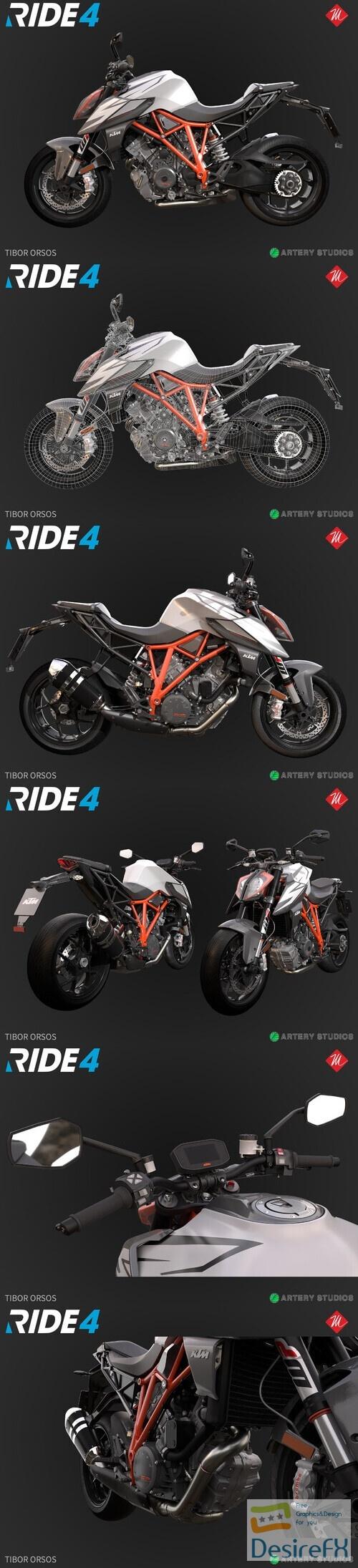 KTM 1290 Super Duke R 2019 3D Model