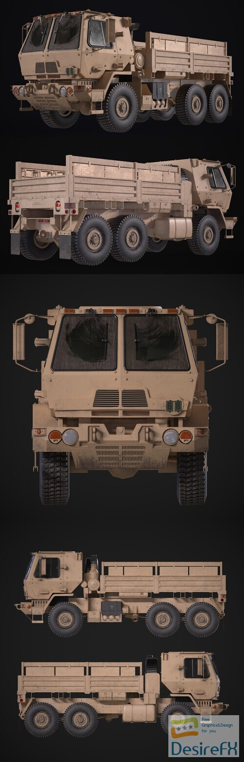 M1083-A2 FMTV 3D Model