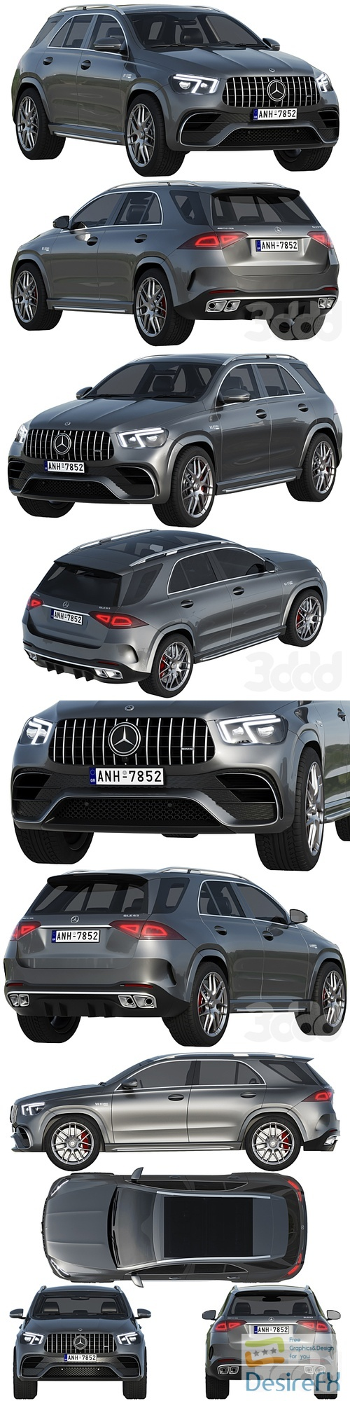 Mercedes-Benz AMG GLE 63 2021 3D Model