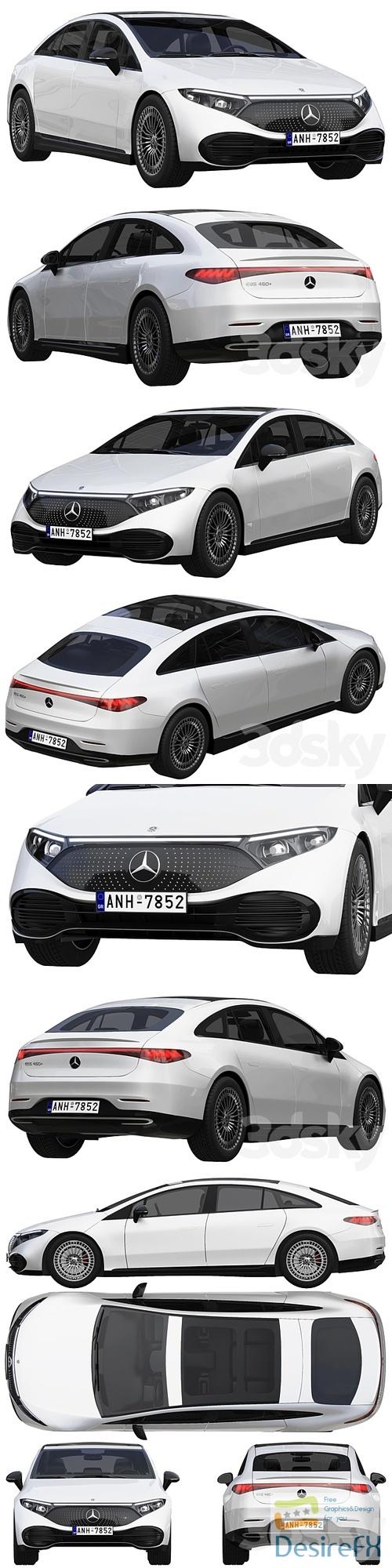 Mercedes-Benz EQS 2022 3D Model