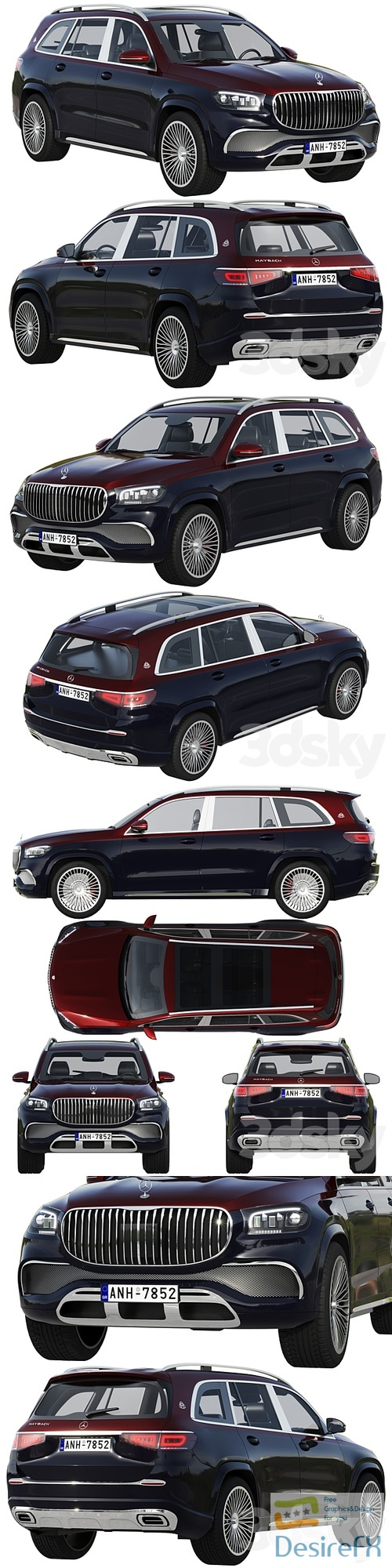 Mercedes-Benz Maybach GLS 3D Model