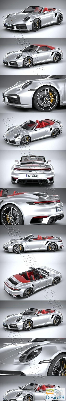 Porsche 911 Turbo S Cabrio 2021 3D Model